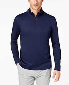 Tasso Elba Men's Supima® Cotton Quarter-Zip Pull-Over, Created for Macy's