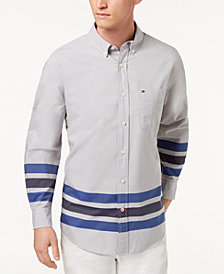 Tommy Hilfiger Men's Copper Stripe Classic Fit Shirt, Created for Macy's