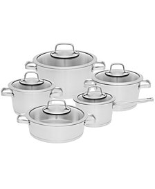 BergHOFF Manhattan 10-Pc. Stainless Steel Cookware Set