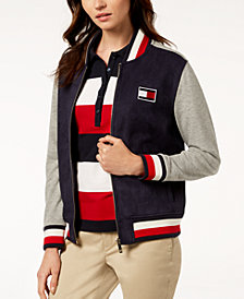 Tommy Hilfiger Colorblock Bomber Jacket, Created for Macy's