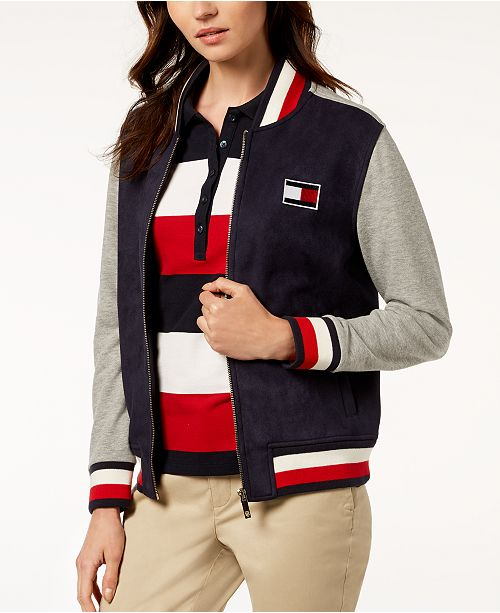b3a0e8b85 Tommy Hilfiger Colorblock Bomber Jacket, Created for Macy's ...