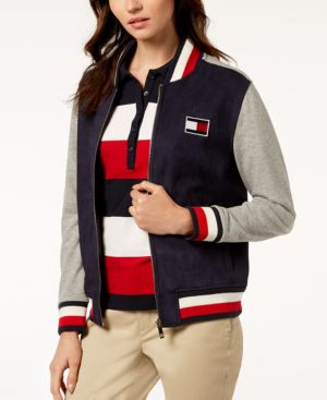 COLORBLOCK BOMBER JACKET, CREATED FOR MACY'S