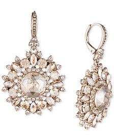 Marchesa Gold-Tone Crystal Drop Earrings