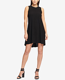 DKNY Chain-Trim Scuba Trapeze Dress