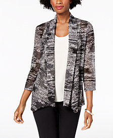 Kasper Draped-Front Printed