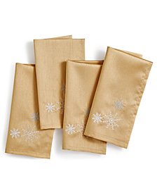 Bardwil Christmas Sparkle 4-Pc Napkin Set
