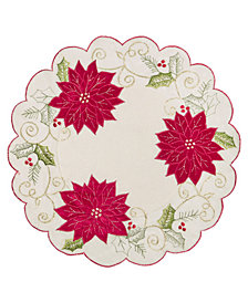 "Homewear Holly Tinsel 15"" Round Placemat"