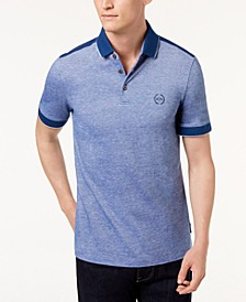 Heathered Colorblocked Polo
