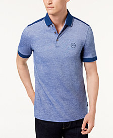 A|X Armani Exchange Men's Heathered Colorblocked Polo