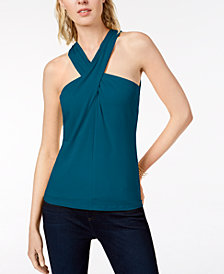 I.N.C. Twisted Halter Top, Created for Macy's