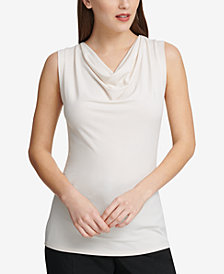 DKNY Cowl-Neck Top, Created for Macy's