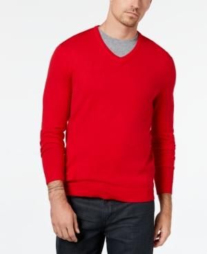 1950s Men's Clothing Alfani Mens V-Neck Sweater Created for Macys $16.93 AT vintagedancer.com