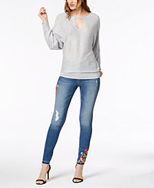 I.N.C. Metallic Sweater & Skinny Jeans, Created for Macy's