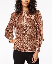 Rachel Zoe Jayne Silk Leopard-Print Top