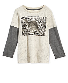 Epic Threads Little Boys Layered-Look Dinosaur-Print T-Shirt, Created for Macy's