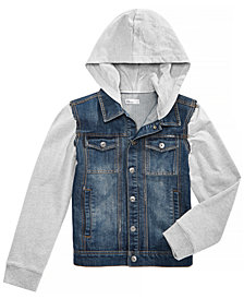 Epic Threads Big Boys Layered-Look Hooded Denim Jacket, Created for Macy's