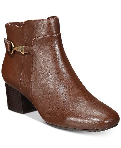 84a575528dc3 Bandolino Faruka Block Heel Zip Booties   Reviews - Boots - Shoes ...