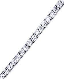 Swarovski Zirconia Asscher-Cut Tennis Bracelet in Sterling Silver
