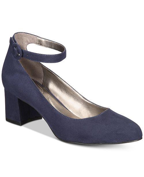 77ec515917c Bandolino Odear Ankle-Strap Block Heel Pumps   Reviews - Pumps ...