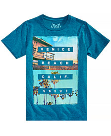 Univibe Big Boys Beach-Print T-Shirt
