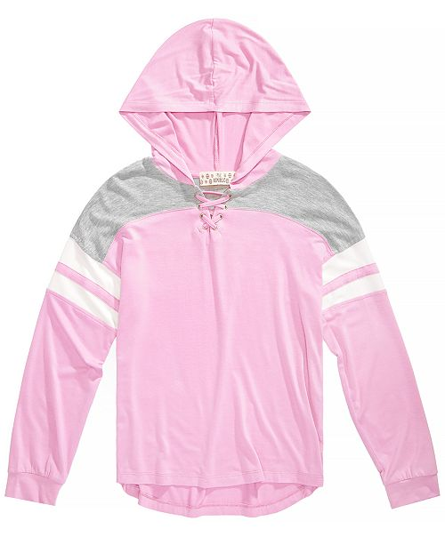a3148a047404 Pink Republic Big Girls Hooded Knit Top - Sweaters - Kids - Macy s