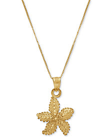 "Starfish 18"" Pendant Necklace in 10k Gold"