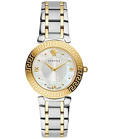 Versace Women's Swiss Daphnis Two-Tone Stainless Steel Bracelet Watch 35mm