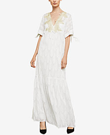 BCBGMAXAZRIA Embroidered Maxi Dress