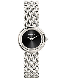 Versace Women's Swiss V-Flare Stainless Steel Bracelet Watch 28mm