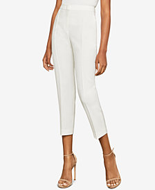 BCBGMAXAZRIA Cropped High-Rise Pants