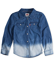 Levi's® Big Girls Western Long-Sleeve Cotton Denim Shirt