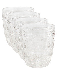 EuroCeramica Fez Double Old Fashion Glasses, Set of 4