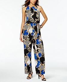 Thalia Sodi Printed Keyhole Jumpsuit, Created for Macy's