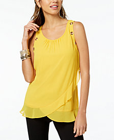 Thalia Sodi Tulip-Hem Top, Created for Macy's