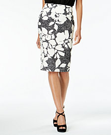 Thalia Sodi Floral-Print Pencil Skirt, Created for Macy's