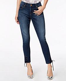 Vintage America Wonderland Lace-Up Skinny Jeans