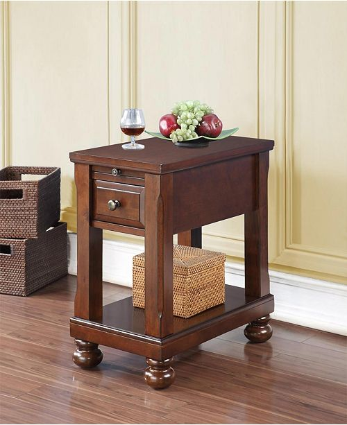 Abagail Chairside Table With Usb And Outlet