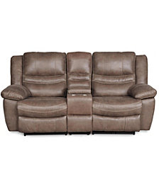 Liam Manual Loveseat with Console