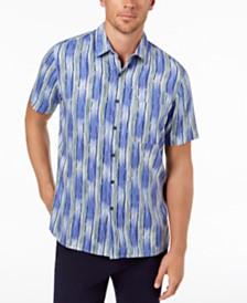 Tasso Elba Men's Ikat Stripe Shirt, Created for Macy's