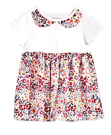 First Impressions Toddler Girls Faux-Collar Floral-Print Cotton Tunic, Created for Macy's
