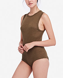 Free People All The Time Sleeveless Full-Coverage Bodysuit