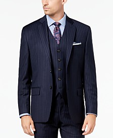 Lauren Ralph Lauren Men's Classic-Fit UltraFlex Stretch Navy Pinstripe Suit Jacket
