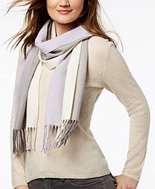Calvin Klein Ombré Striped Woven Scarf