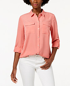 Charter Club Tab-Sleeve Blouse, Created for Macy's