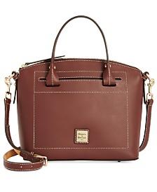 Dooney & Bourke Beacon Domed Medium Smooth Leather Satchel