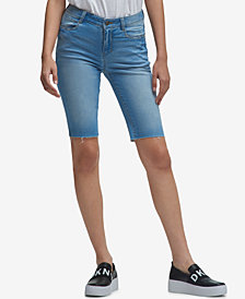 DKNY Studded Denim Shorts, Created for Macy's