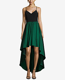 Betsy & Adam Colorblocked High-Low Gown