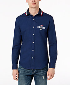 Tommy Hilfiger Men's New England Alan Custom Fit Shirt, Created for Macy's