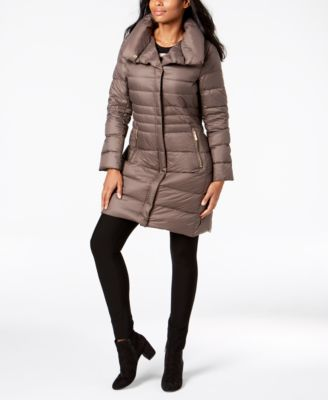 Pillow-Collar Puffer Coat