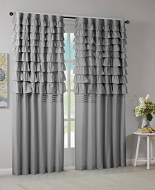 "Intelligent Design Waterfall Ruffled 50"" x 84"" Rod Pocket/Back Tab Window Panel"
